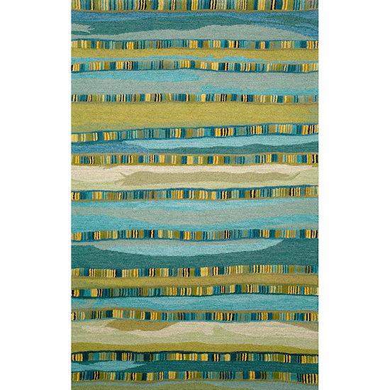 Liora Manne Seville Mosaic Stripe Hand Tufted Rectangular Indoor Rugs