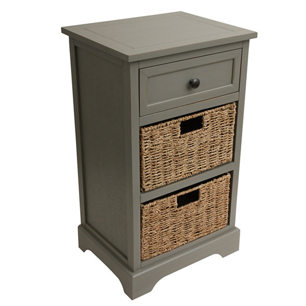 Storage 3-Drawer Storage End Table