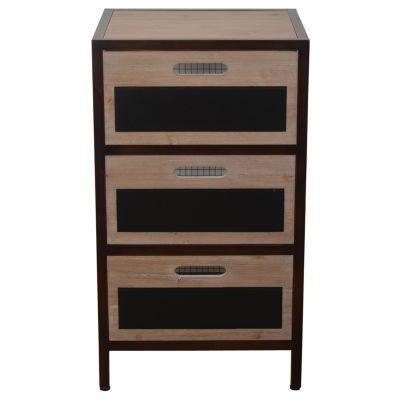Decor Therapy Chalkboard Storage 3-Drawer StorageEnd Table