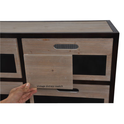 Decor Therapy Chalkboard Storage 6-Drawer StorageEnd Table