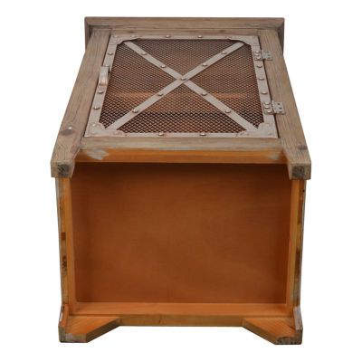 Decor Therapy Chicken Wire Storage End Table