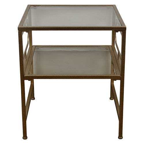 Decor Therapy Glass End Table