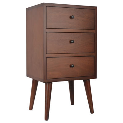 Decor Therapy Mid Century 3-Drawer Storage End Table