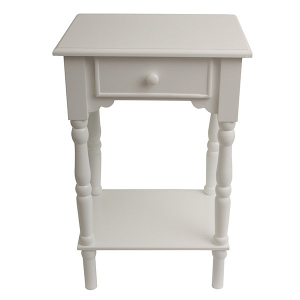 Decor Therapy Simplify 1-Drawer Storage End Table