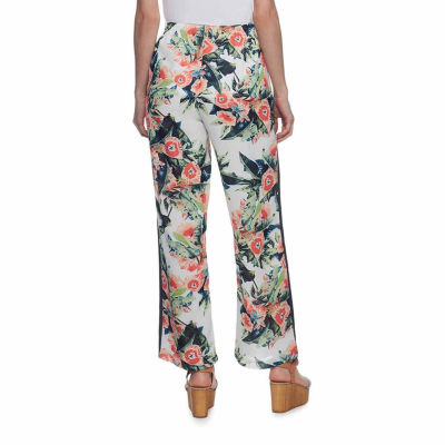 Skyes The Limit Tahitian Paradise Floral Track Stripe Jogger Pants-Plus