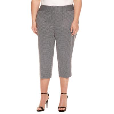 "Worthington® Sateen Cropped Pants 21"" - Plus"