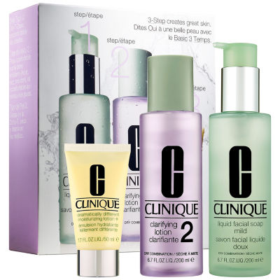 CLINIQUE 3-Step Skin Care System For Skin Type 2 Dry to Dry Combination Skin
