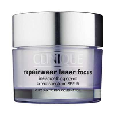 CLINIQUE Repairwear Laser Focus Line Smoothing Cream Broad Spectrum SPF 15 for Very Dry to Dry Combination Skin