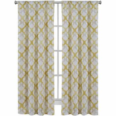 Light-Filtering Rod-Pocket Set of 2 Curtain Panel