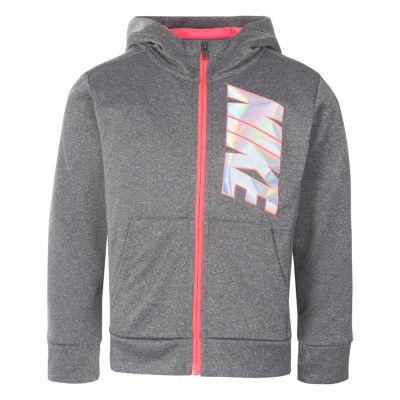 Nike Girls Cuffed Sleeve Hoodie-Preschool