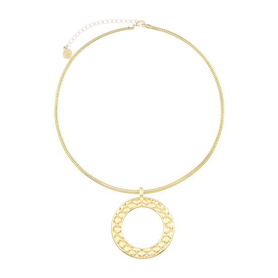 Liz Claiborne 18 Inch Omega Pendant Necklace