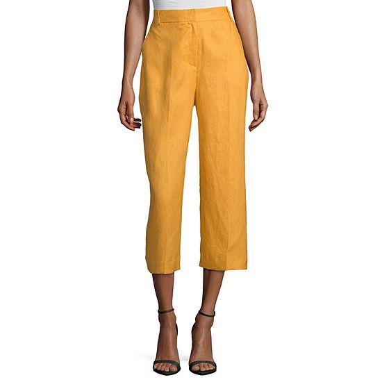 Worthington High Waist Wide Leg Crop Pant - Tall