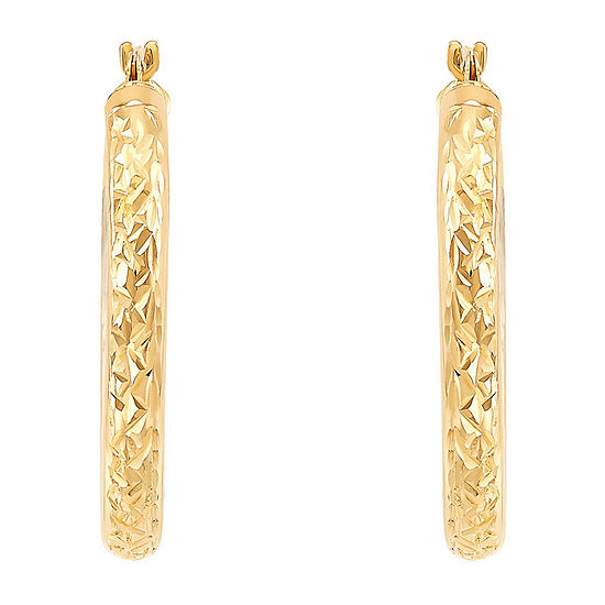 10K Gold 25mm Hoop Earrings