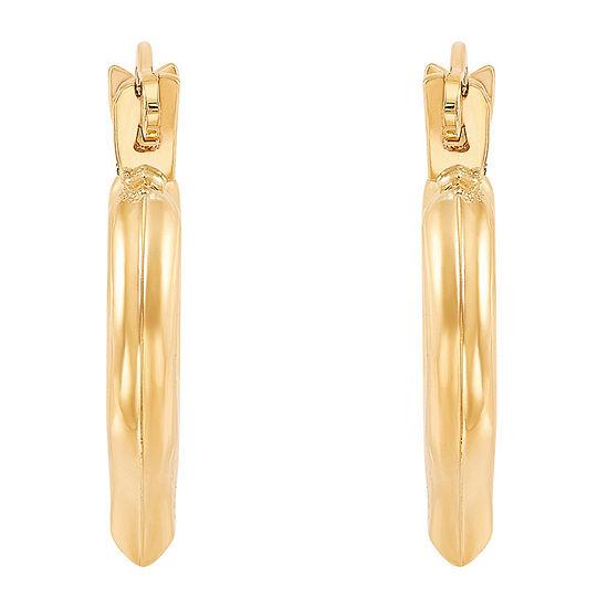 10k Gold 128mm Heart Hoop Earrings