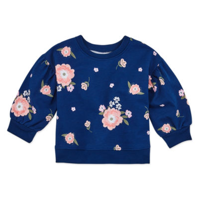 Okie Dokie Girls Crew Neck Long Sleeve Sweatshirt - Baby