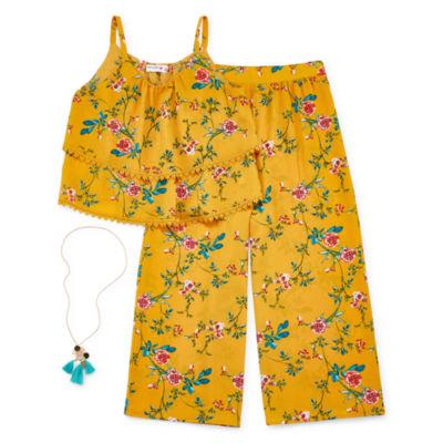 Knit Works 2-pc. Floral Pant Set Girls