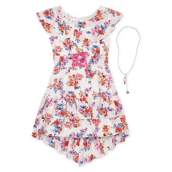 Knit Works Girls Short Sleeve Sundress - Big Kid