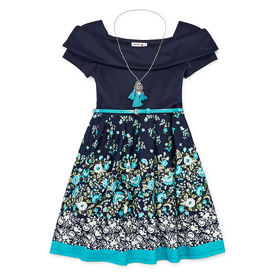 Knit Works Girls Sleeveless Skater Dress - Big Kid