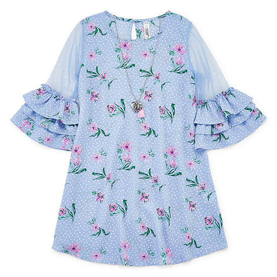 Knit Works Swing Dresses Girls 3/4 Sleeve Swing Dresses - Big Kid