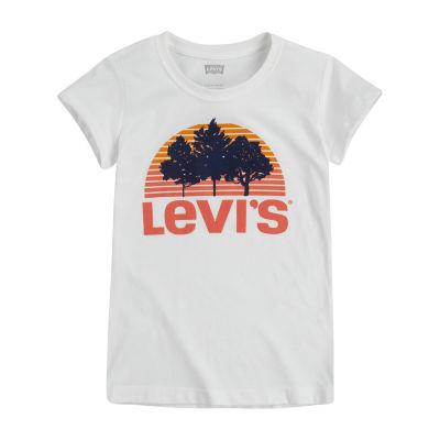 Levi's Girls Round Neck Short Sleeve Graphic T-Shirt Big Kid