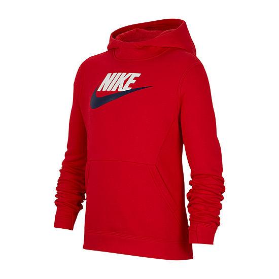 Nike Cotton Fleece Boys Hoodie-Big Kid