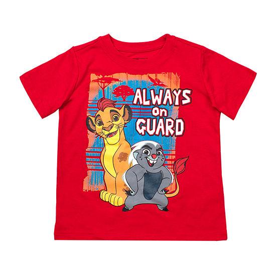 Disney Boys Crew Neck Short Sleeve The Lion King Graphic T-Shirt-Toddler