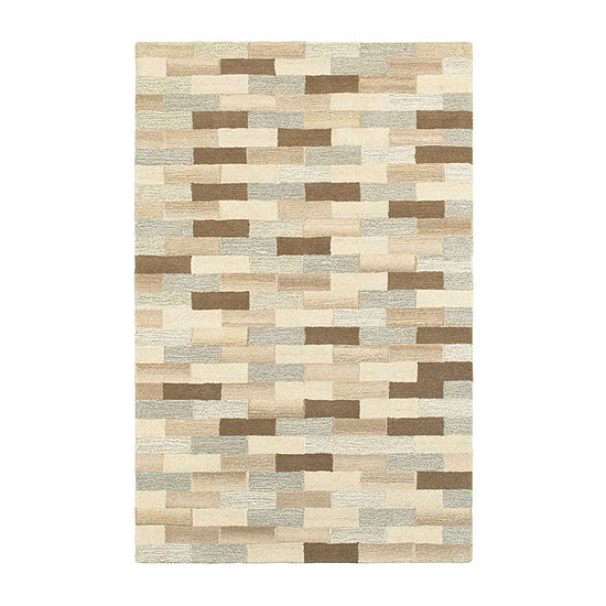 Covington Home Inala Bricks Hand Tufted Rectangular Indoor Rugs