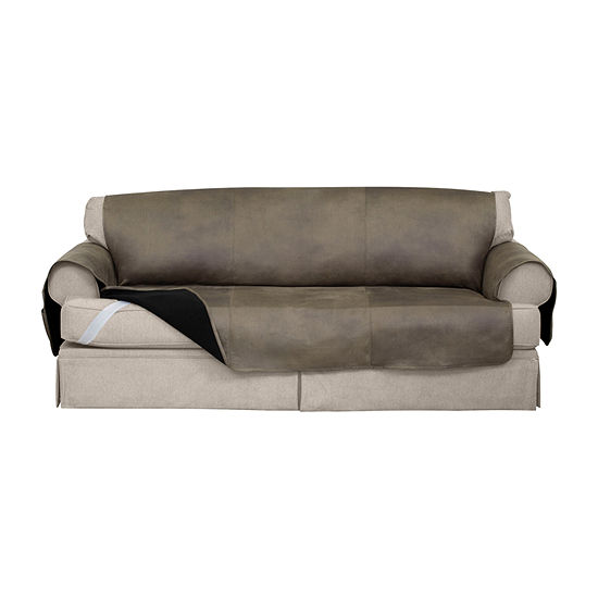 Serta No Slip Faux Leather With Neverwet Sofa Protector