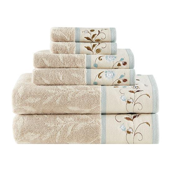 Madison Park Belle 6-pc. Floral Bath Towel Set