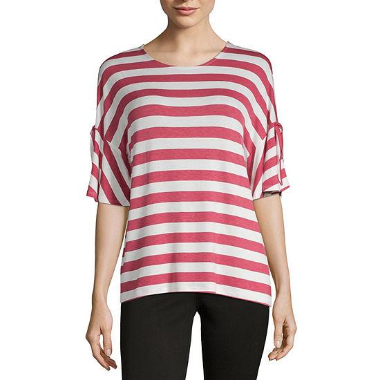 a.n.a-Womens Crew Neck 3/4 Sleeve T-Shirt