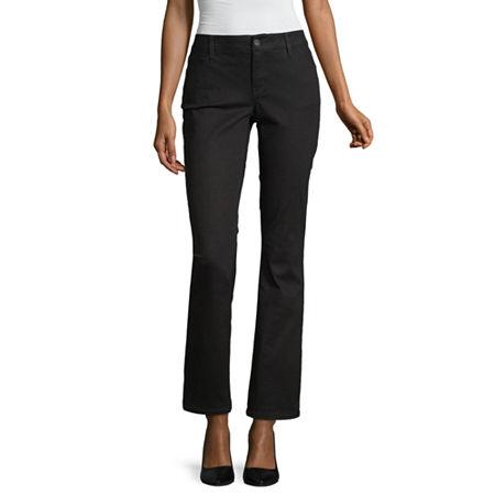 Liz Claiborne Womens Classic Fit Bootcut Jean, 8 , Black