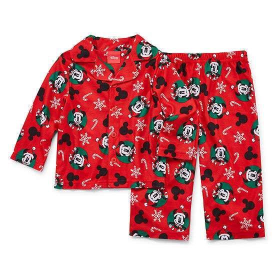 Disney Mickey Family 2 Piece Coat Front Pajama -Unisex Baby