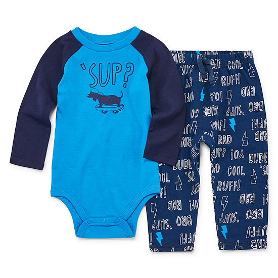 Okie Dokie 2 Pc Bodysuit Set Baby Boys