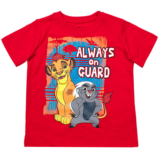 The Lion King Boys Crew Neck Short Sleeve The Lion King Graphic T-Shirt-Toddler