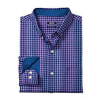 IZOD Premium Essentials Mens Long Sleeve Gingham Button-Front Shirt