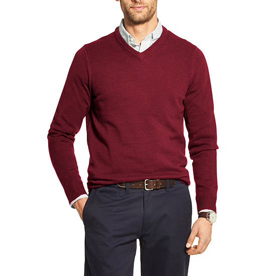 IZOD Premium Essentials V Neck Long Sleeve Pullover Sweater