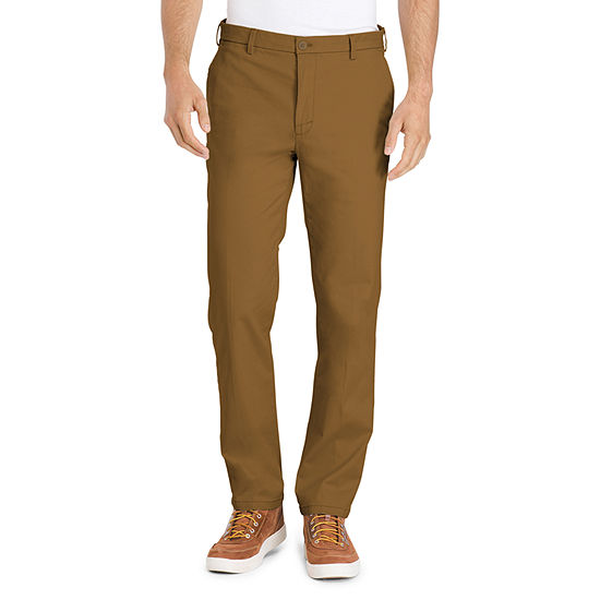IZOD Saltwater Stretch Mens Mid Rise Straight Fit Flat Front Pant