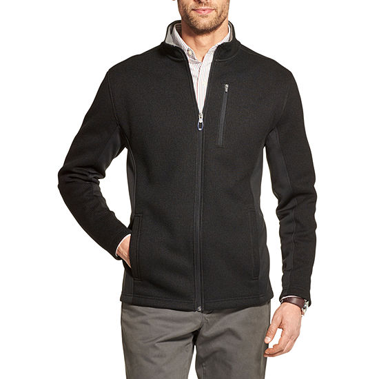 IZOD Shaker Fleece Mock Neck Long Sleeve Pullover Sweater