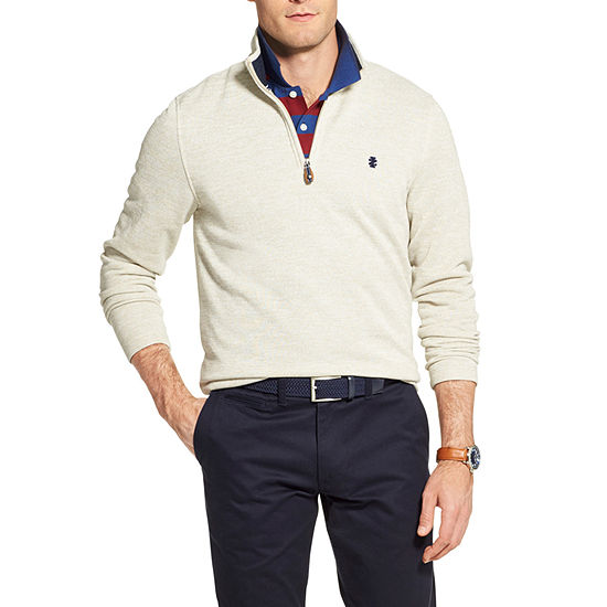 IZOD Premium Essentials Mock Neck Long Sleeve Pullover Sweater
