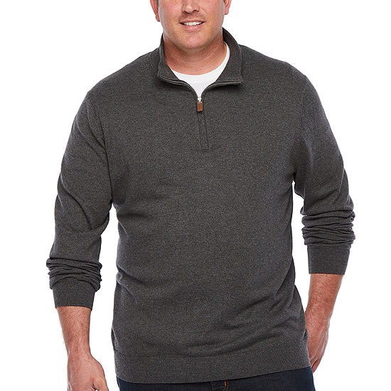 The Foundry Big & Tall Supply Co. - Big and Tall V Neck Long Sleeve Pullover Sweater