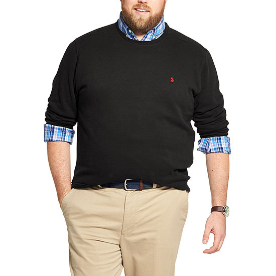 IZOD Big and Tall Fleece Crewneck Pullover