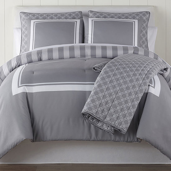 Home Expressions Finley 6-pc. Midweight Reversible Comforter Set