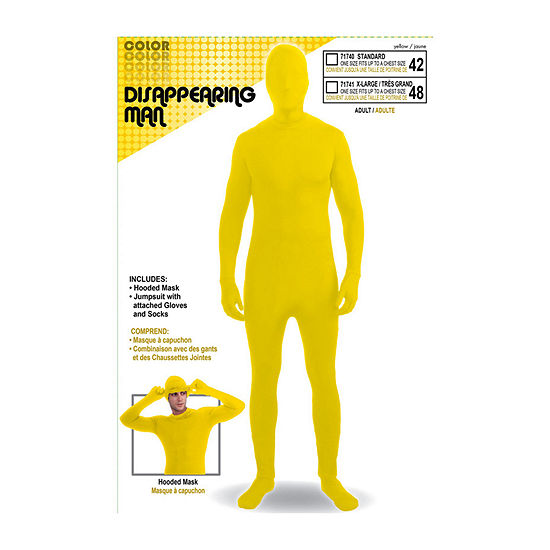 Disappearing Man Suit Yellow Up Dress Up Accessory