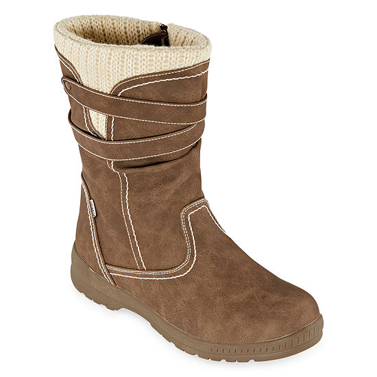 Totes Womens Hera Waterproof Winter Boots Flat Heel