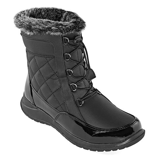 Totes Womens Poppy Waterproof Insulated Winter Boots Flat Heel