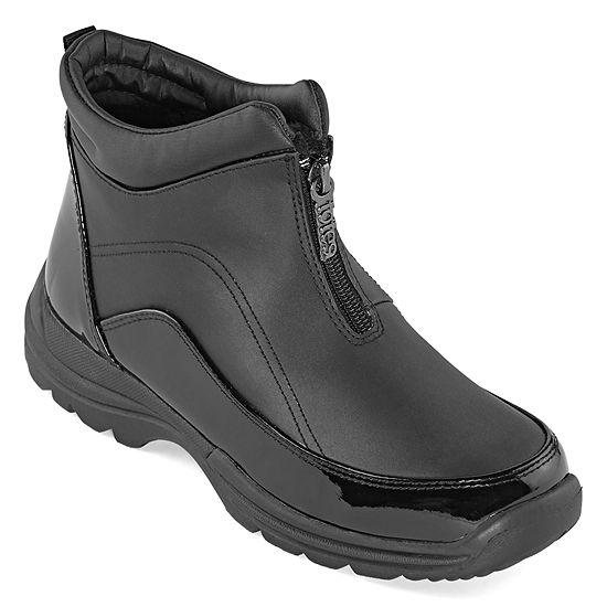 Totes Womens Freya Waterproof Insulated Winter Boots Flat Heel