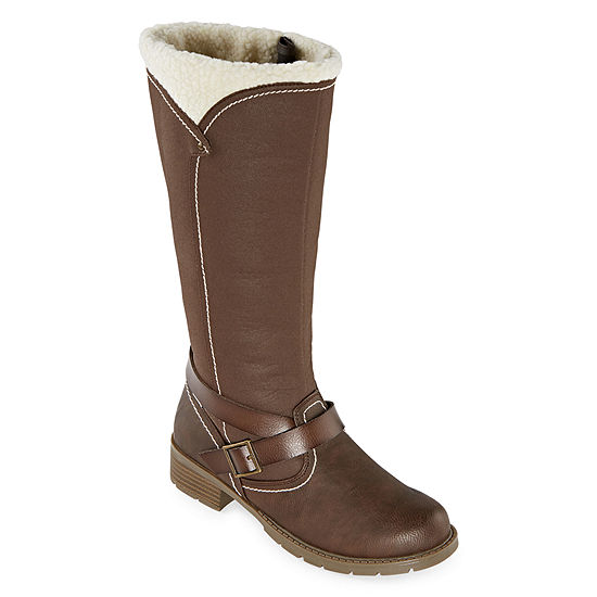 Totes Womens Flora Waterproof Insulated Winter Boots Block Heel