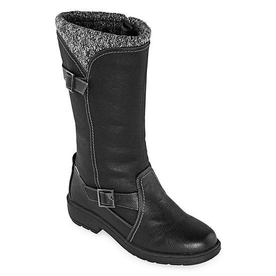 Totes Womens Abigail Waterproof Insulated Winter Boots Block Heel