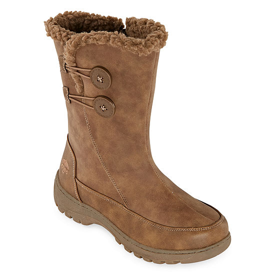 Totes Womens Nala Waterproof Insulated Winter Boots Flat Heel