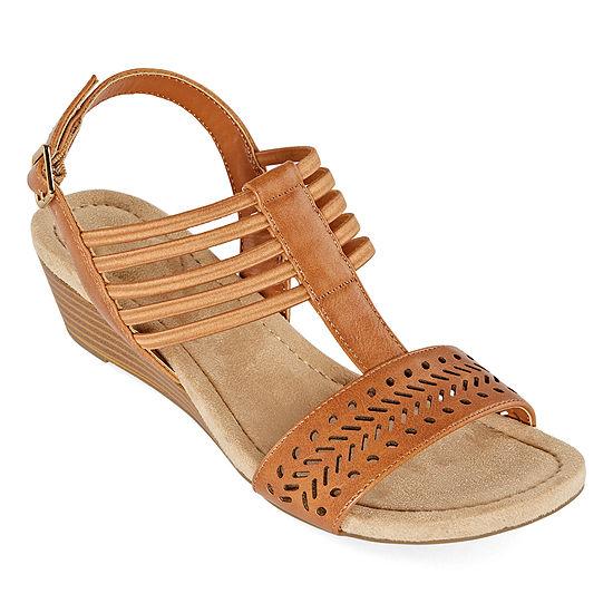St. John's Bay Womens Nordic Wedge Sandals